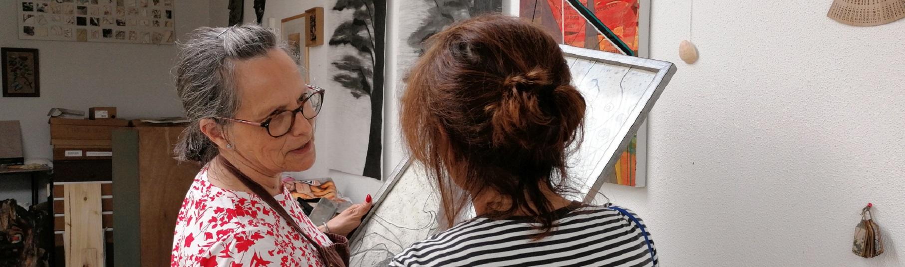 Visita ao atelier de Maria Afonso